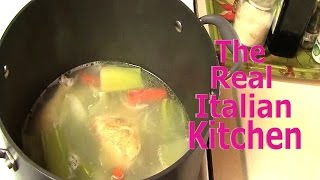 How To Make Chicken Broth - Real Italian Kitchen -
