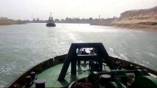 New Suez Canal June 9, 2015 and drilling and dredging equipment opening