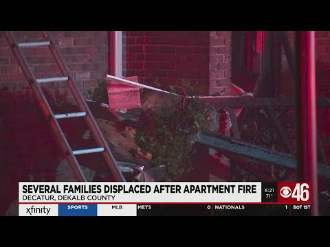 Several families displaced after apartment fire