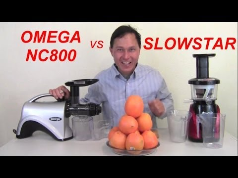 Omega NC800 vs Slowstar Juicer Comparison Review: Orange Jui