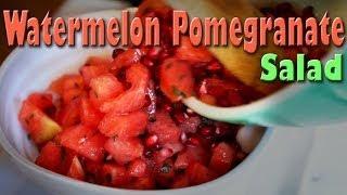Watermelon Pomegranate Salad: Raw Food Vegan Recipe
