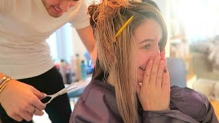 I CUT ZOE'S HAIR...