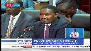 CS Mwangi Kiunjuri appeared before senate over maize imports debate