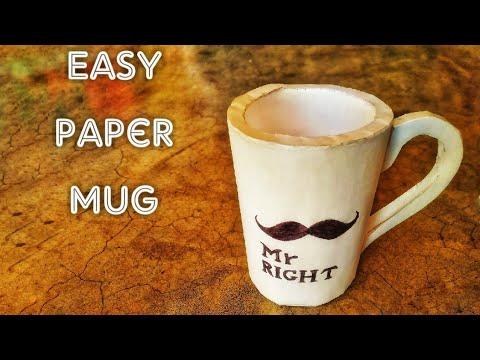 Diy, Paper cup, paper mug, paper craft , Art & Craft (M.U.)