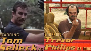 Magnum, P.I. starring Trevor Philips Side by Side Comparison