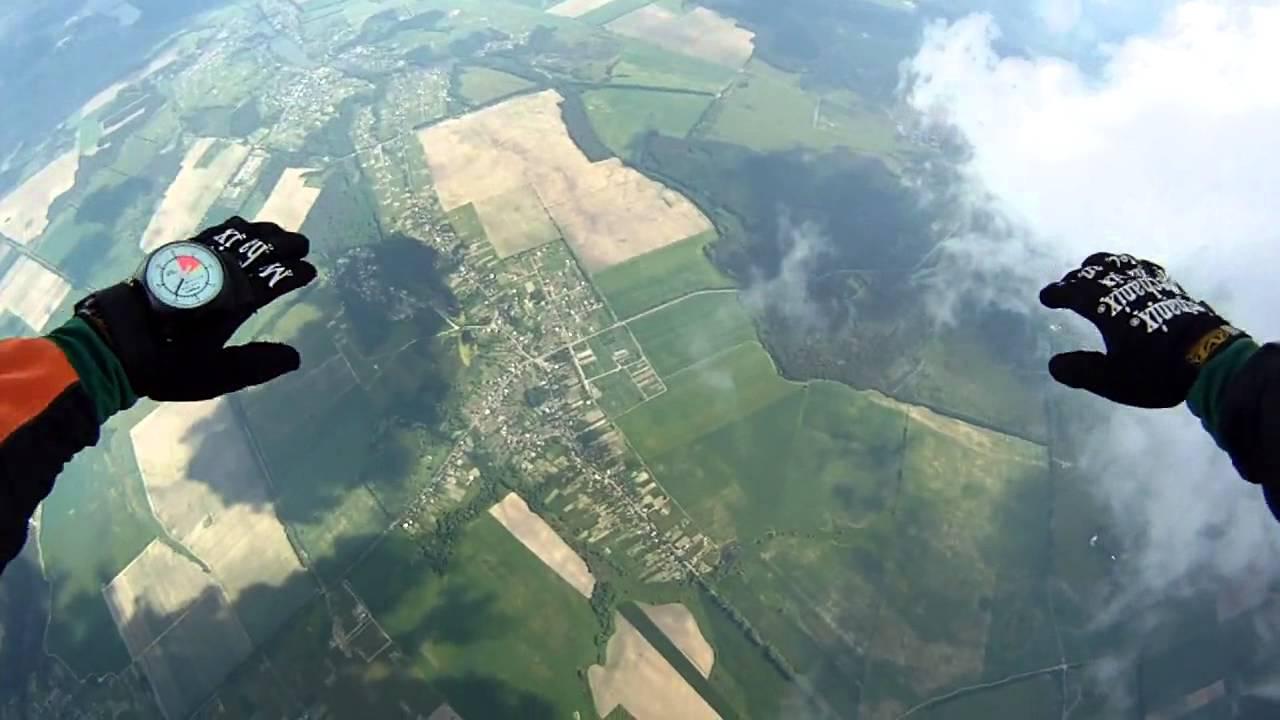Полет с парашютом видео