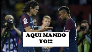 PSG vs SAINT ETIENNE | NEYMAR QUISO PATEAR PERO CAVANI LE  CEDIÓ EL BALON