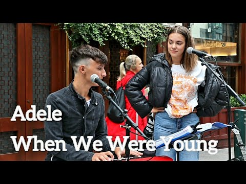 AMAZING DUBLIN STREET PERFORMER SINGS DUET - Adele - When We Were Young | Allie Sherlock & Cuan Durkin