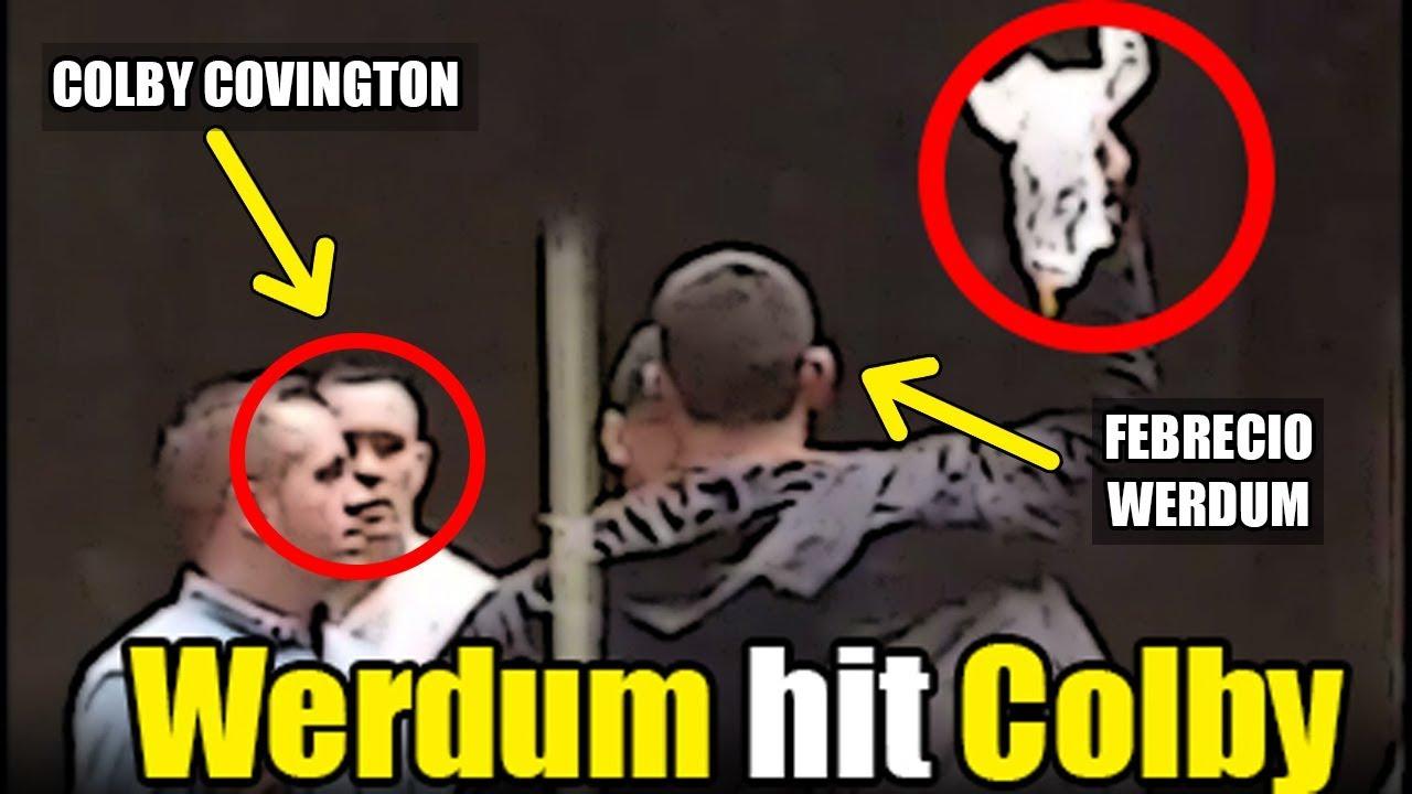 maxresdefault omg!! febrecio werdum hit colby covington on street (part 1) youtube