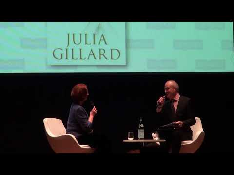 Andrew Klein chats with former PM Julia Gillard