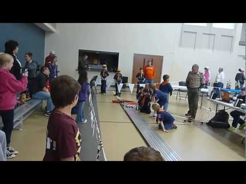 Pinewood Derby Race - Patrick's fastest time
