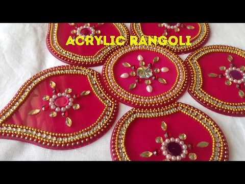 Acrylic Rangoli || Kundan Rangoli || DIY Rearrangeable Rangoli