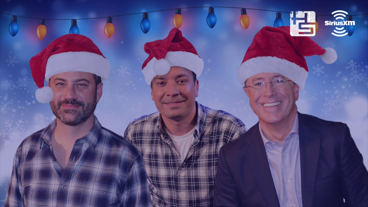Jimmy Fallon Christmas.Hear Jimmy Kimmel Jimmy Fallon And Stephen Colbert Sing A Christmas Carol Together