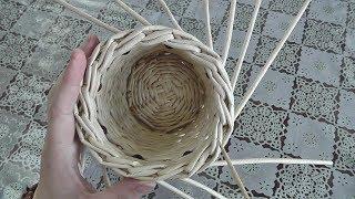 ЗАГИБКА РОЗГА (необычный вариант). Плетение из газетных трубочек