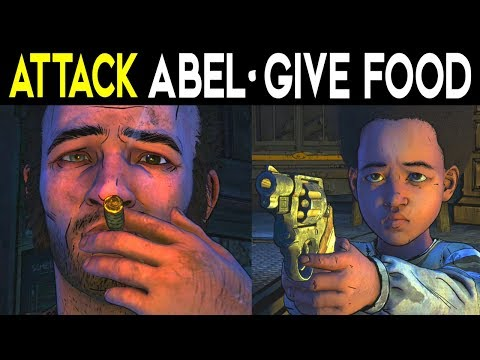 Attack Shoot Abel VS Give Abel Food - The Walking Dead Season 4 Episode 1 - Alternative Choices