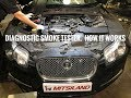 How a Diagnostic smoke Tester works, Bentley, Jaguar, Land Rover, Mitsubishi