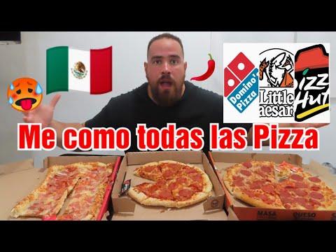 ASI son Las PIZZA en MEXICO NO PUEDO CREER QUE COMAN ESTO
