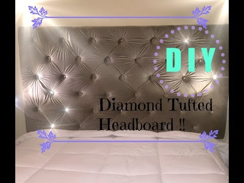 Diy Budget Friendly Tufted Headboard