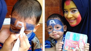 Face Painting Superhero Ironman dan Captain America