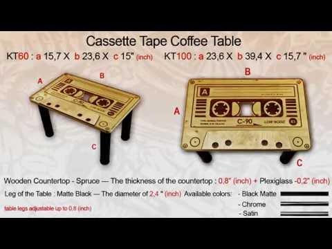 Wooden Coffee Table - Cassette Tape  - 4Elements Wear