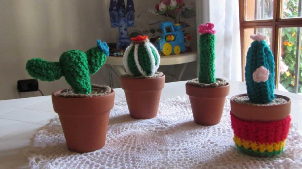 cosicasraquel: Cactus de Crochet - Tres Patrones Gratuitos !!! | 720x1280