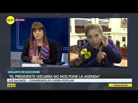 """Luz Salgado: """"El presidente Vizcarra no nos pone la agenda"""""""
