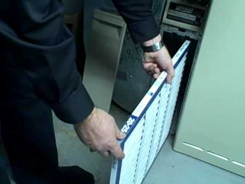 Change A Furnace Air Filter Mp4 Youtube