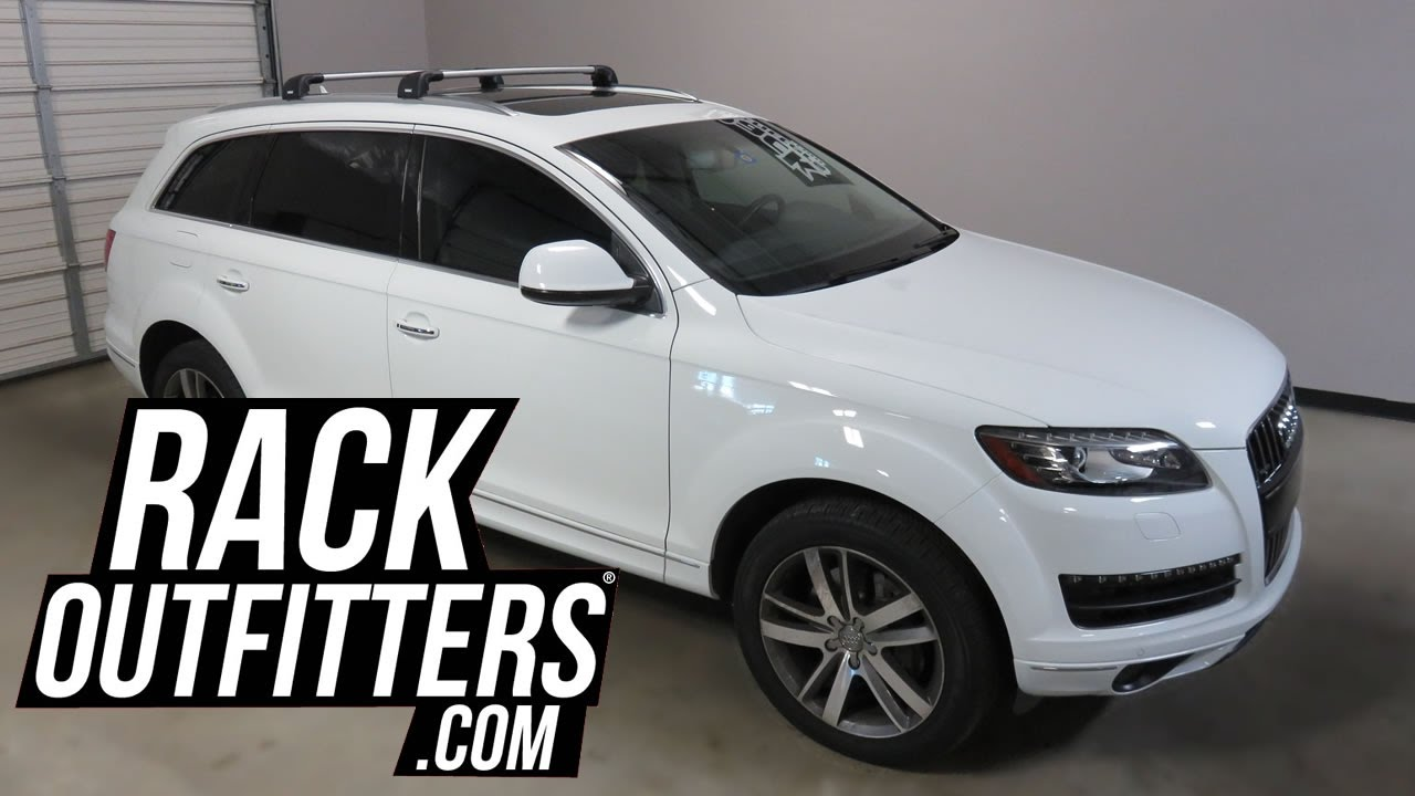 2007 To 2015 Audi Q7 With Thule Aeroblade Edge Roof Rack