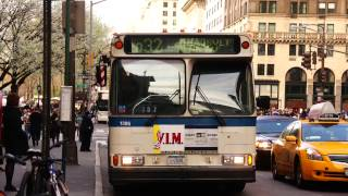 MTA New York City Bus 1996 Orion V 1305 (ex-639) On The Q32 @ 57th Street & 5th Avenue