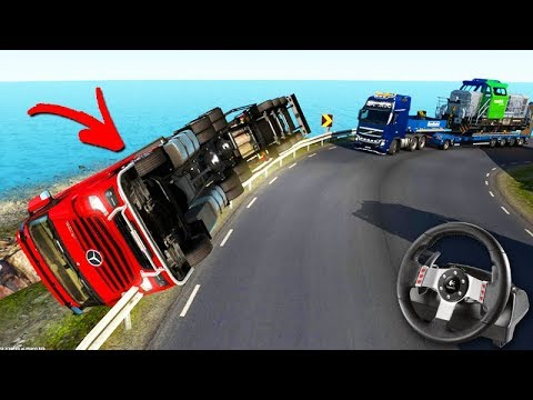 O Comboio De Caminhão Com Acidente Feio Euro Truck
