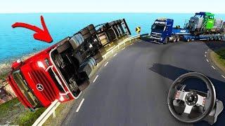 O Comboio De CaminhÃo Com Acidente Feio!!! - Euro Truck Simulator 2 + G27