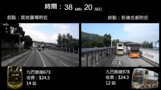 【誰是真特快】中環去粉嶺 673 vs 978 (九巴)