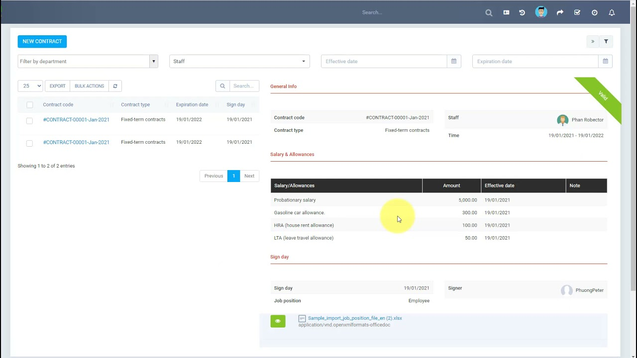 Perfex CRM Modules - HR Records - Contracts Management Null