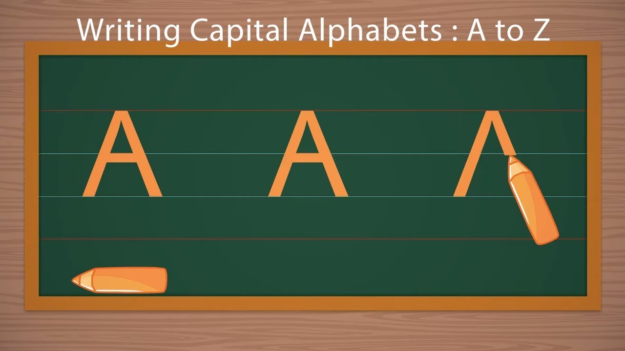 Writing Capital Letters  How to Write Alphabets  Beautiful Handwriting   School Learning Video