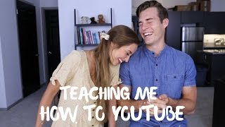 My Fiancée Teaches Me How To Be A YouTuber   Marcus Johns & Kristin Lauria