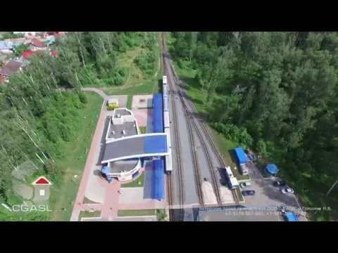 Аэросъемка Казанской детской железной дороги (ДЖД)