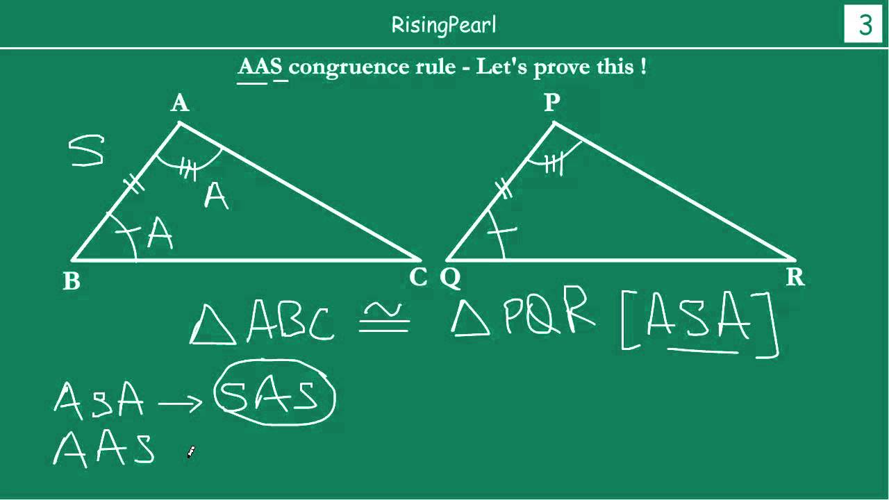 AAS (Angle-Angle-Side) Congruence rule and Proof - YouTube