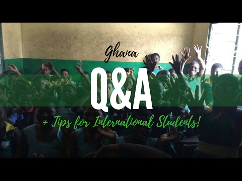 GHANA STUDY ABROAD Q&A + TIPS FOR INT'L STUDENTS! | DayaRashelle