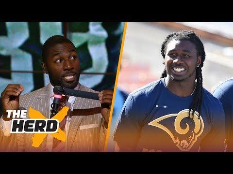Greg Jennings talks Sammy Watkins to Rams, anthem protests, Ezekiel Elliott's suspension | THE HERD