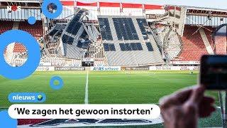 AZ-fans geschrokken door ingestort stadion