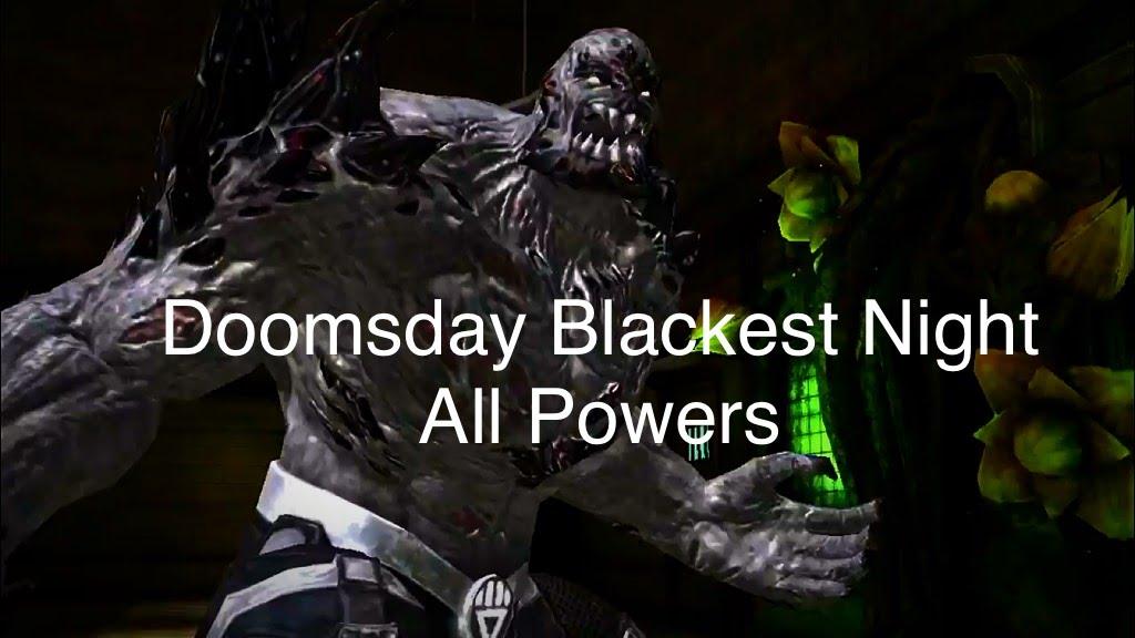 Injustice Blackest Night Doomsday All Specials - YouTube