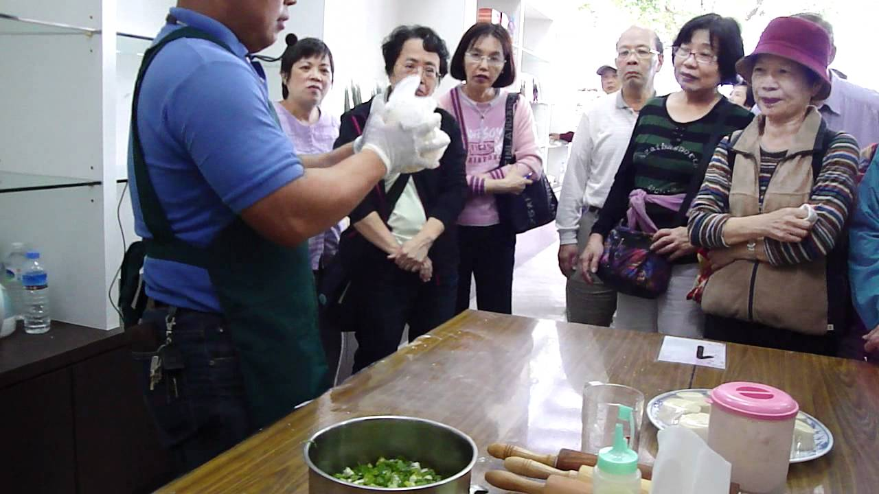 宜蘭三星蔥油餅DIY製作方法說明1 - YouTube