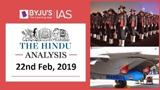 'The Hindu' Analysis for 22nd Feb, 2019. (Current Affairs for UPSC/IAS )