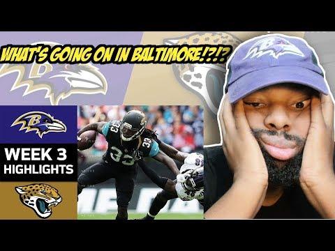 Ravens vs Jaguars | NFL Week 3 Game Highlights - We Have To Play Ravens Football Baltimore! Reaction