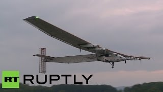 Video: 'Revolutionary' solar plane makes maiden flight in Switzerland(Swiss residents witnessed the first flight of the 'revolutionary' Solar Impulse 2 airplane. The plane is currently the only one that can fly day and night on solar ..., 2014-06-02T13:18:35.000Z)
