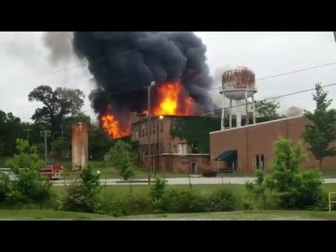 Textile Mill  Fire Hillsborough NC 5-20-16