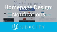 Homepage Design: Notifications  | UX/UI Design | Product Design | Udacity