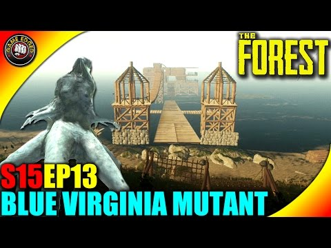 The Forest Gameplay - Blue Spider Virginia Mutant, Traps, Base Build - S15 EP13 (Alpha V0.33)