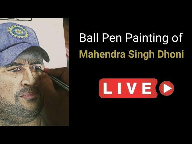 MS Dhoni | Ball Pen Painting by Vishal Garad