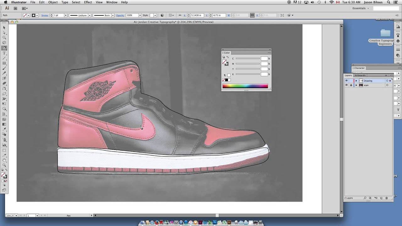 Envelope Distort Adobe Illustrator Beginner Air Jordan Typography Art Part  02
